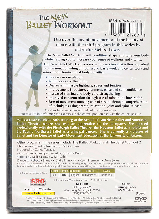 DVD The New Ballet Workout: Wellness, Renewal and Vitality Melissa Lowe - Importado - Lacrado