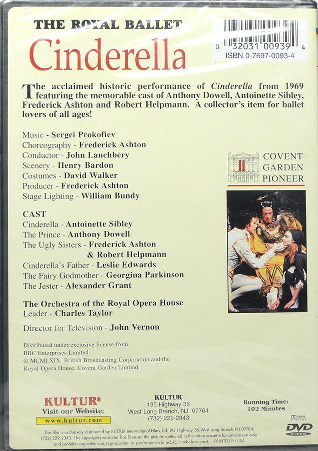 DVD The Royal Ballet Cinderella - Antoinette Sibley Anthony Dowell - Lacrado - Importado