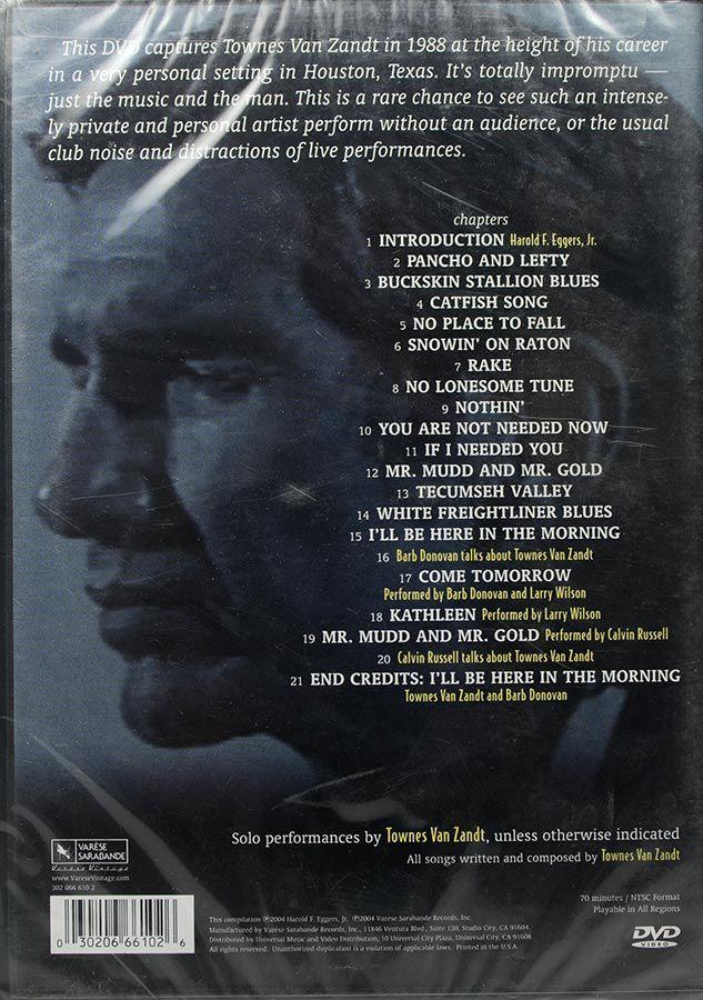 DVD Townes Van Zandt - Houston 1988 - Lacrado - Importado