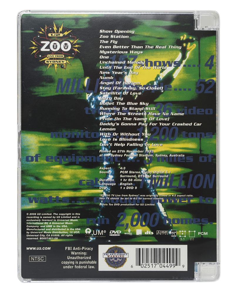 DVD U2 - Zoo TV Live From Sydney (Importado - EUA) - Lacrado