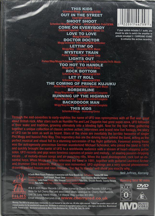 DVD Ufo - The Story Of Ufo Too Hot To Handle - Lacrado - Importado