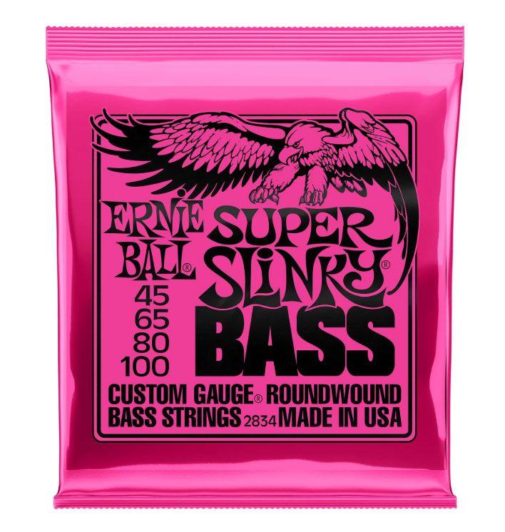 Encordamento Baixo Ernie Ball 4 Cordas 2834 Slinky 045/100