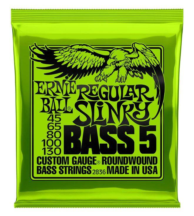 Encordamento Baixo Ernie Ball 5 Cordas 2836 Slinky 045/130