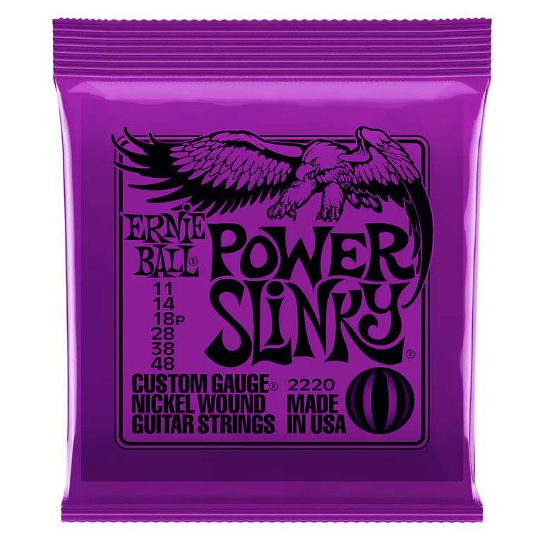 Encordamento Guitarra 2220 Ernie Ball 11-48 Power Slinky