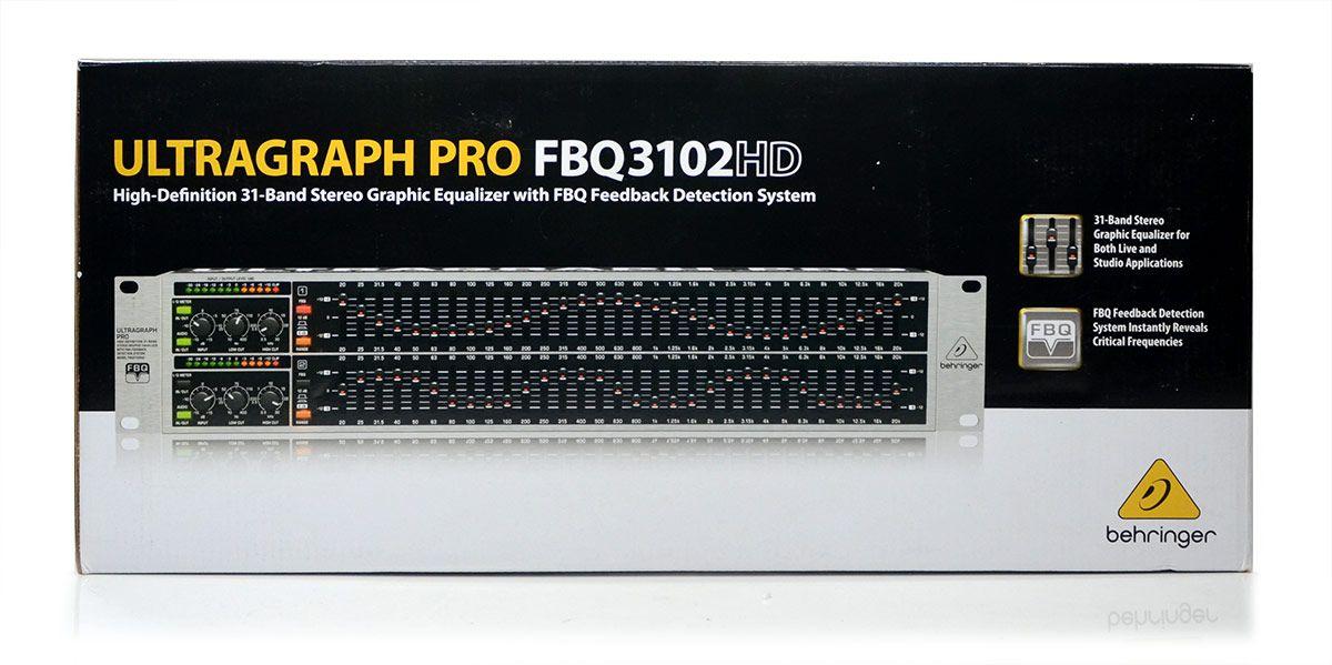 Equalizador Ultragraph Pro FBQ3102HD Behringer  31 Bandas NF