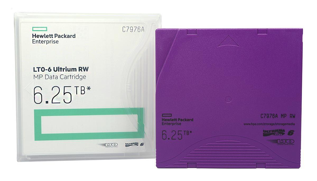 Fita De Dados HP LTO-6 Ultrium RW 2.50tb / 6.25tb - C7976A