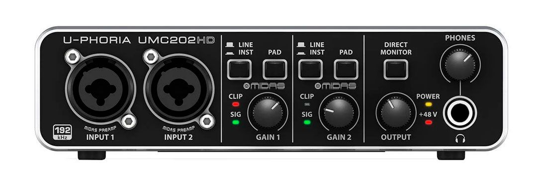 Interface de Áudio U-Phoria UMC202HD Behringer USB 2.0 - NF
