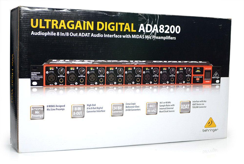 Interface de Audio Ultragain Digital ADA8200 Behringer Midas