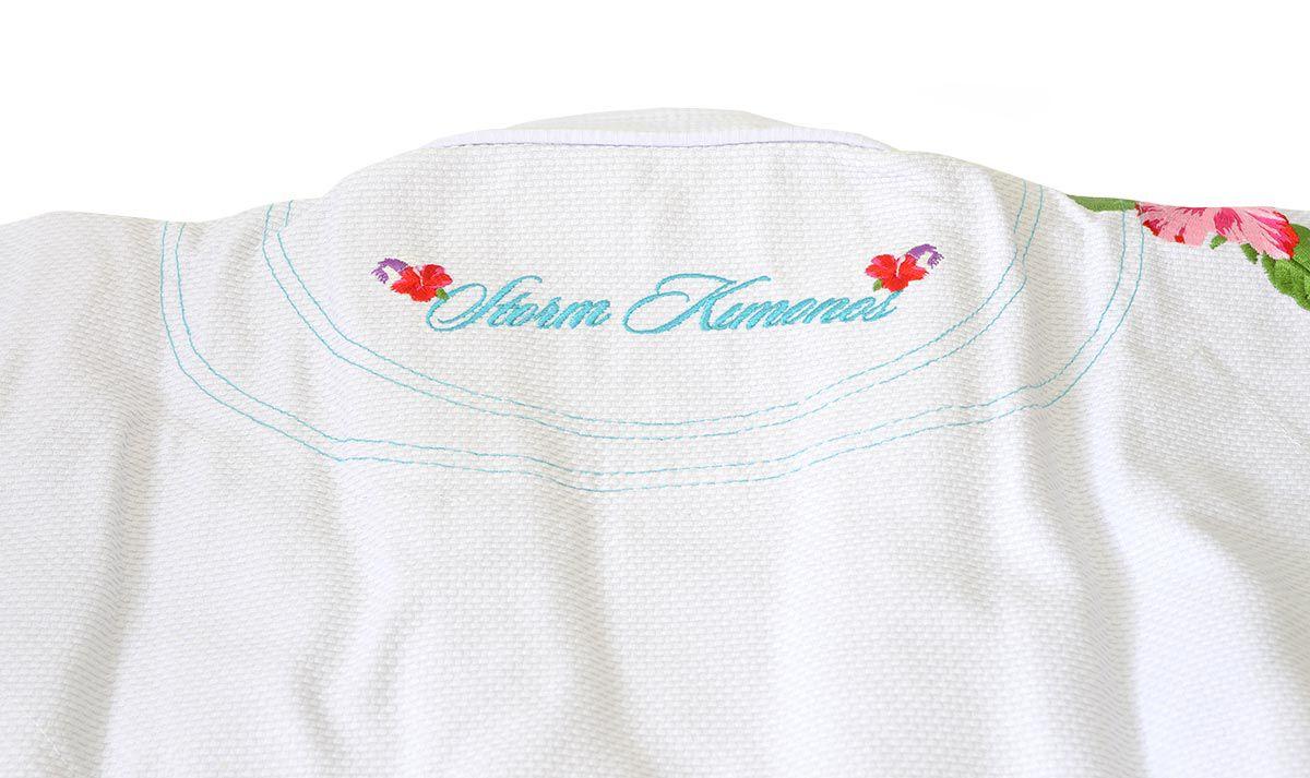 Kimono Storm Eden Jiu-Jitsu Bordado Feminino - Branco