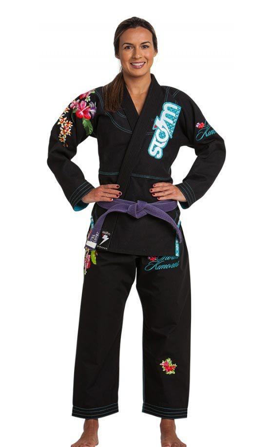 Kimono Storm Eden Jiu-Jitsu Bordado Feminino - Preto