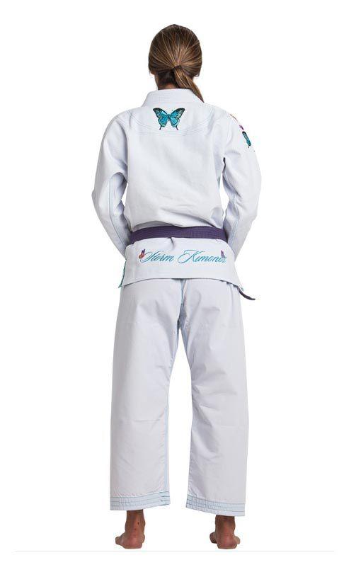 Kimono Storm Grace Butterfly Gi Jiu-Jitsu Feminino - Branco