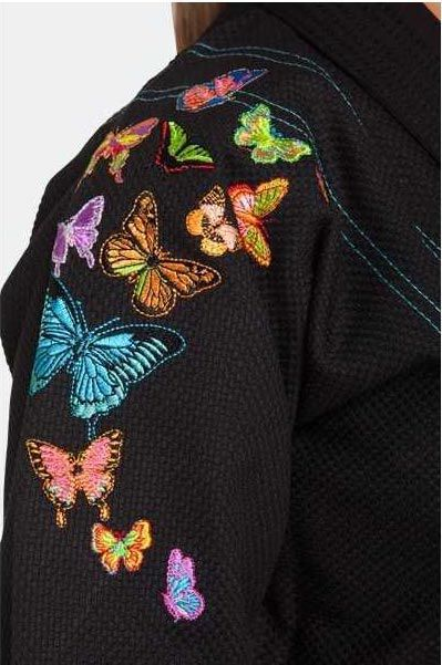 Kimono Storm Grace Butterfly Gi Jiu-Jitsu Feminino - Preto