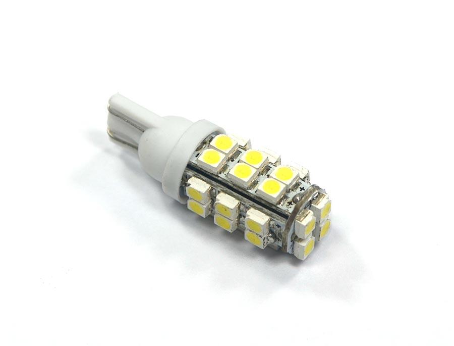 Lampada 28 Leds SMD Pingo T10 W5w - Super Branca - Farolete Xenon