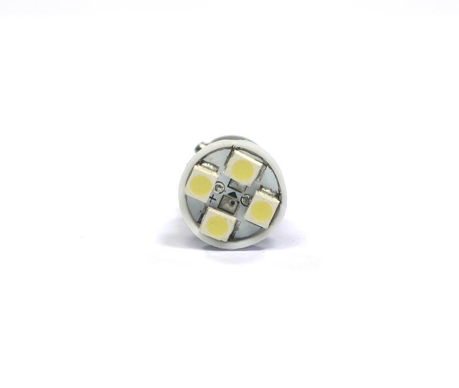 Lampada 69 4 Leds SMD Ba9s 12V - Super Branca Xenon - Fusca Kombi