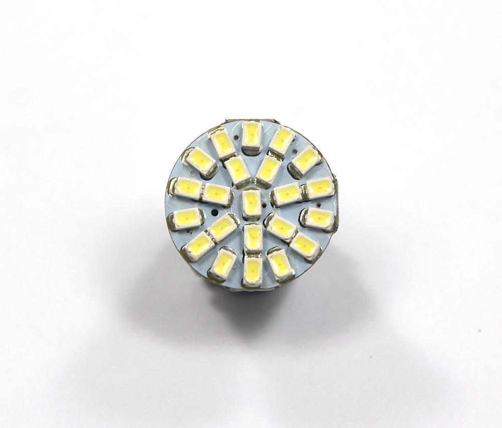Lote 10 Lampadas Led Ré 22 Leds SMD 1156 1 Polo 12v - Super Branca - Luz Ré Placa