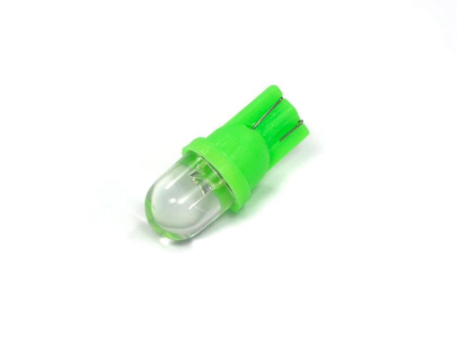Lote 10 Lampadas Pingo 1 Led Verde Gota T10 W5w 12V
