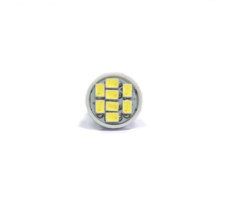 Lote 10 Lampadas Pingo 8 Leds SMD T10 W5w - Super Branca Xenon