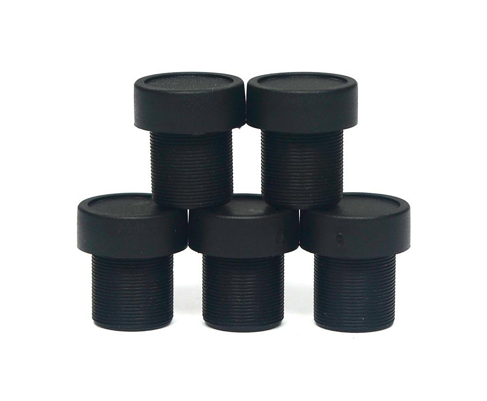 """Lote 5 Mini Lente 3.6mm p/ Micro e Mini Câmera c/ CCD 1/3"""" e CCD 1/4"""""""