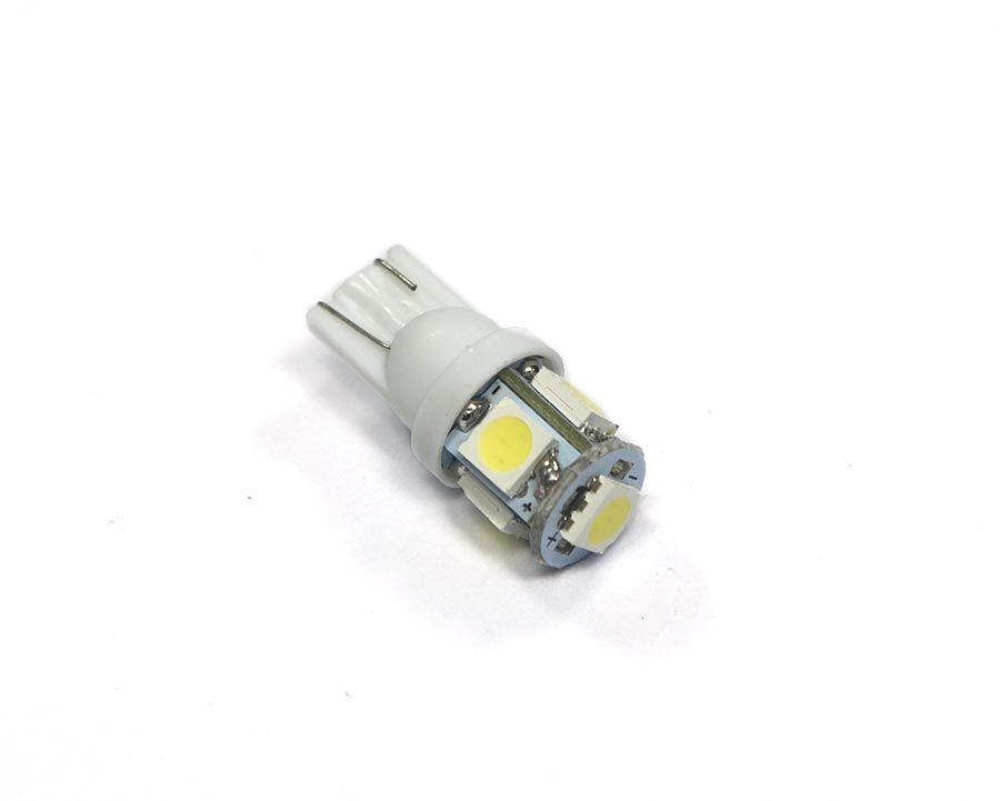 Lote c/ 20 Lampadas Pingo 5 Leds SMD T10 W5w - Super Branca Xenon