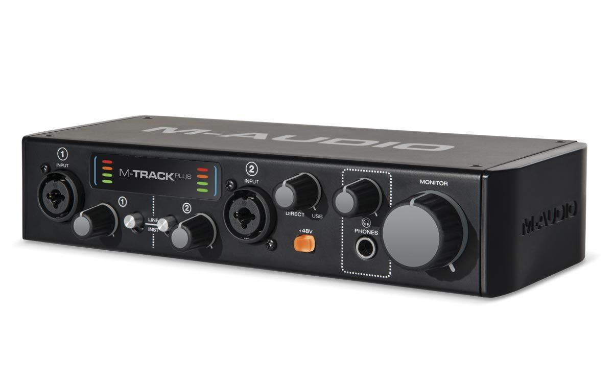 M-Audio M-Track Plus II Interface de Audio USB 2.0 2 Canais (24bit / 96kHz)
