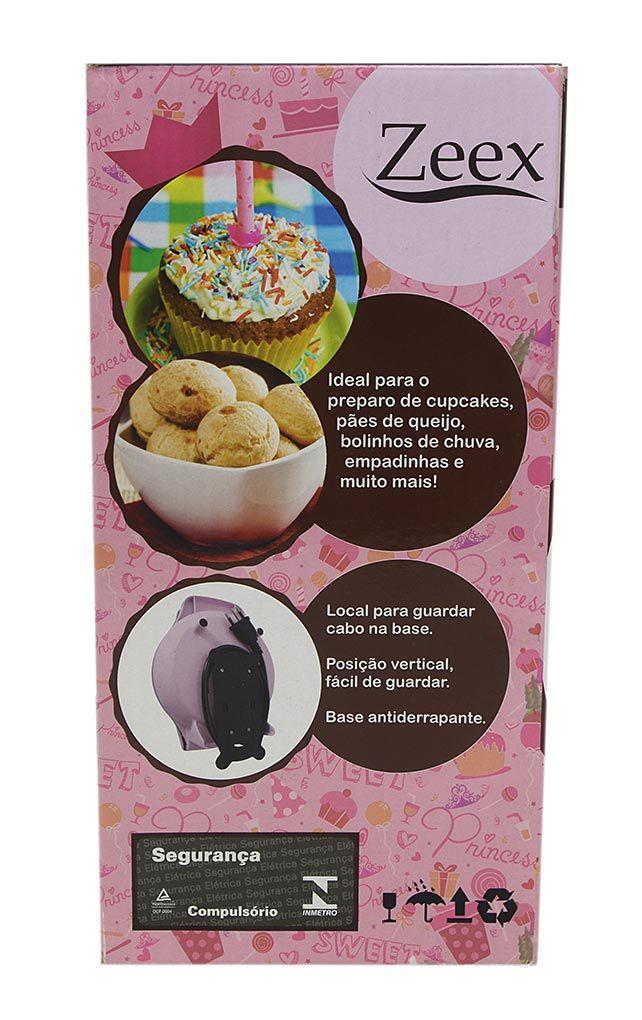 Máquina de Cupcake ZEEX Princess 800W Cupcake Maker Rosa - 127V