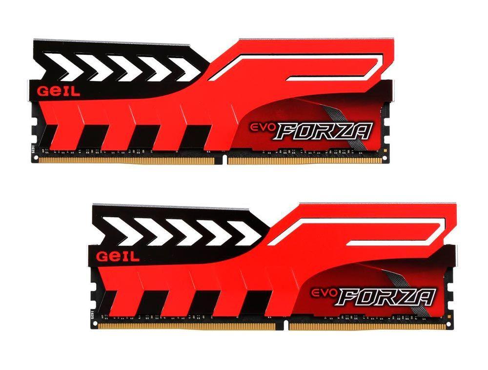 Memoria GeIL EVO FORZA 16GB (2x8GB) DDR4 3000MHz RED - GFR416GB3000C15ADC