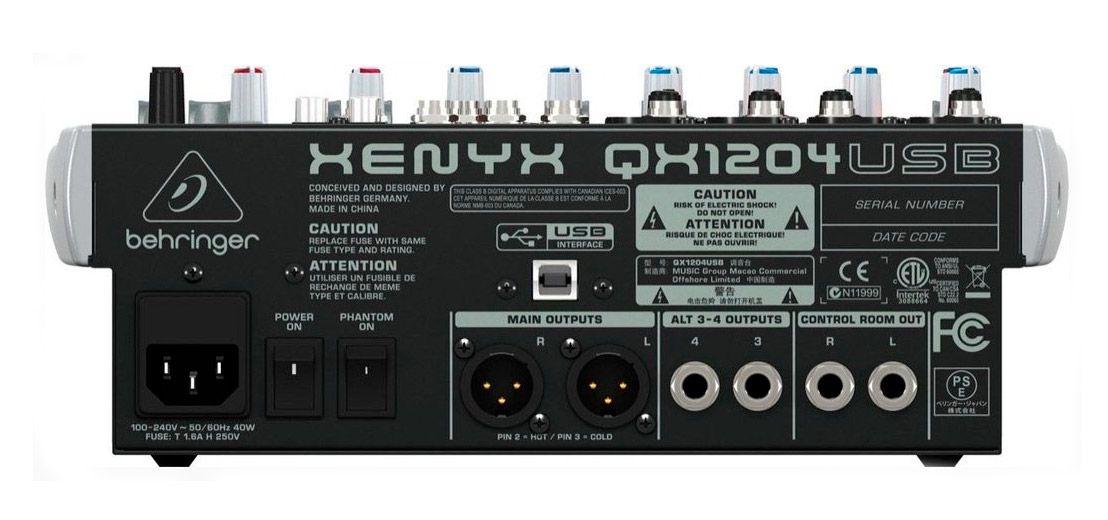 Mesa de Som Behringer Xenyx QX1204USB 12 Canais Nova Na Caixa