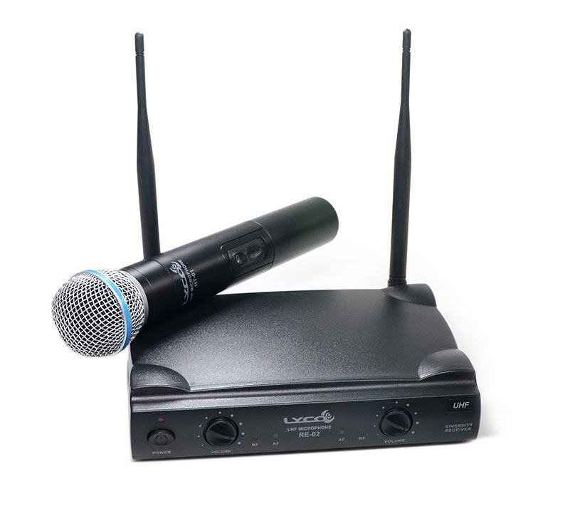 Microfone Sem Fio Lyco UH-02MHLI - Microfone De Mão