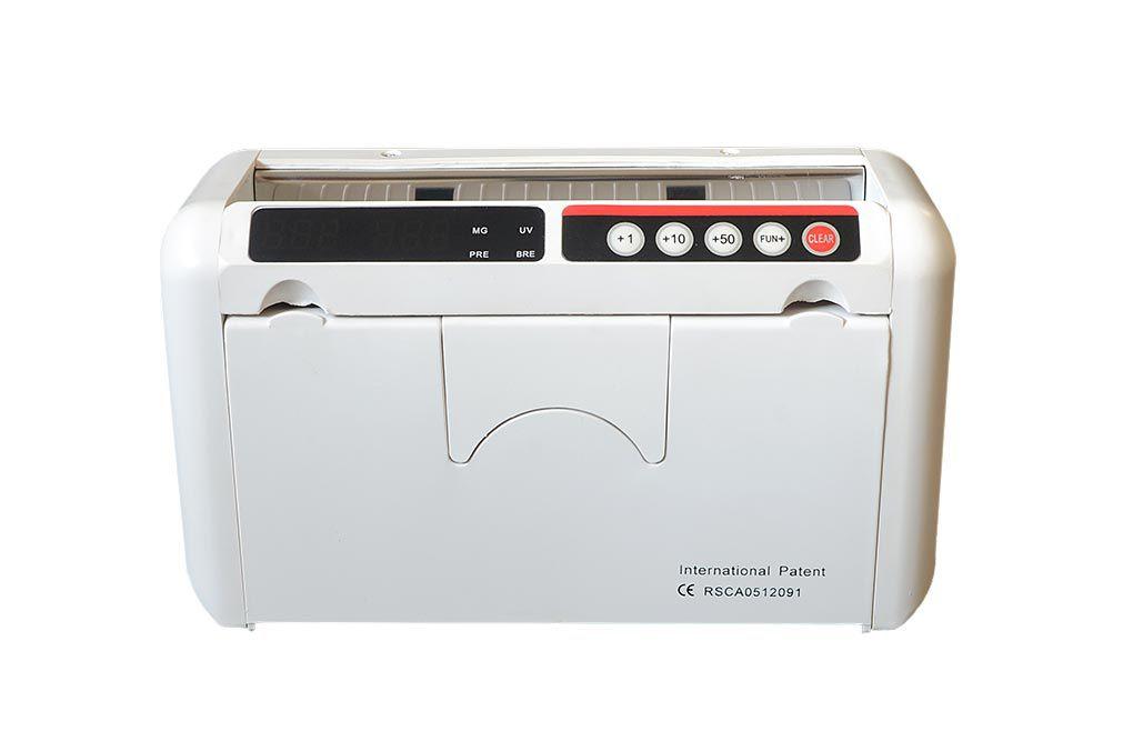 Mini Máquina Portátil Contadora de Dinheiro Cédulas - Detecta Nota Falsa - Bateria Interna