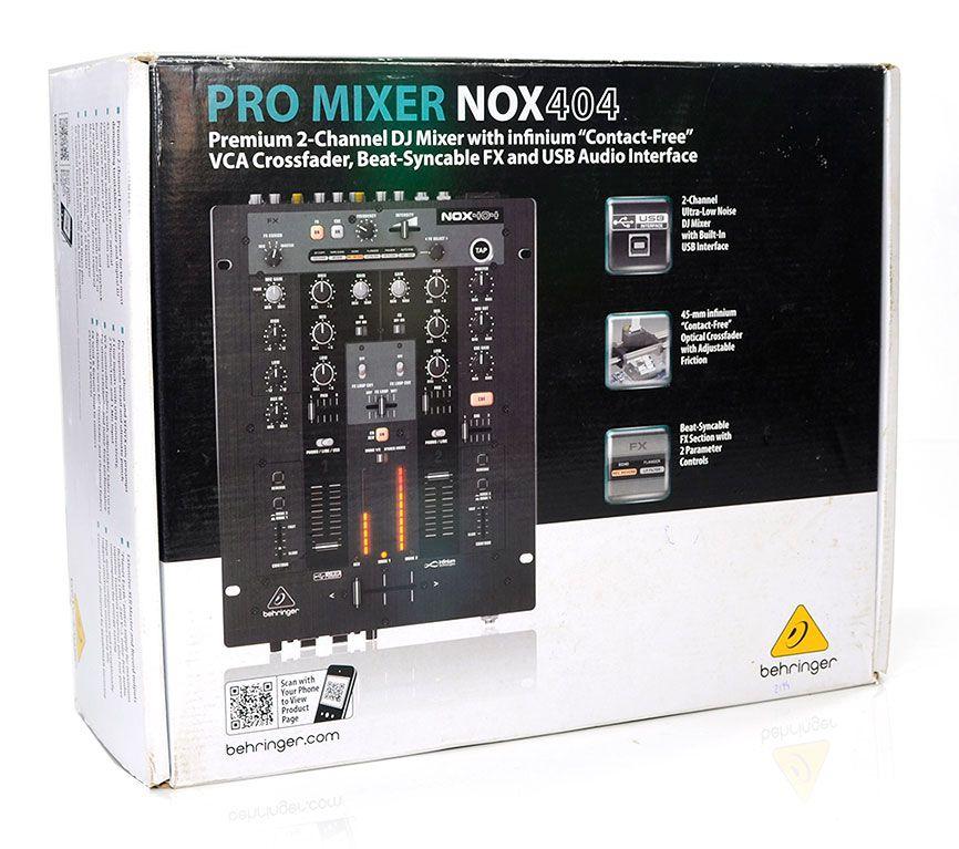 Mixer DJ 2 Canais Pro Mixer Nox404 Behringer USB Infinium NF