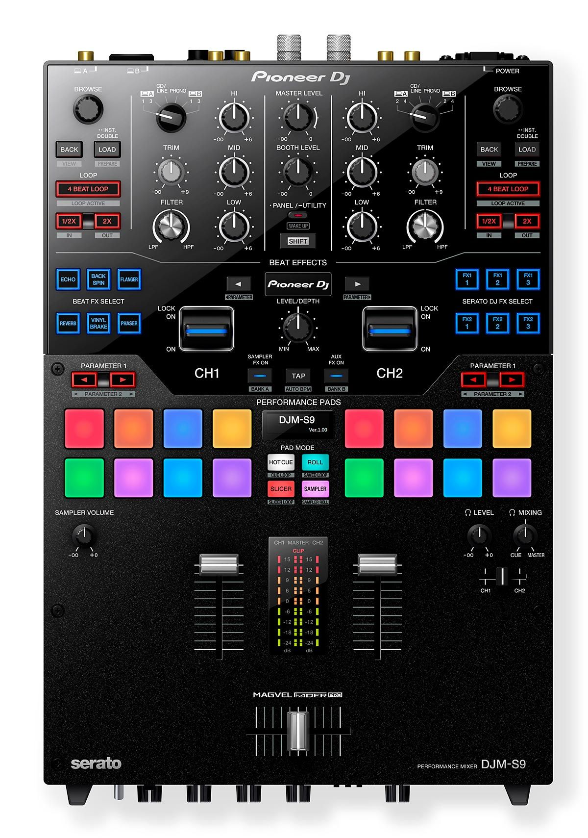 Mixer Pioneer DJM-S9 - 2 Canais P/ Serato DJ Pro