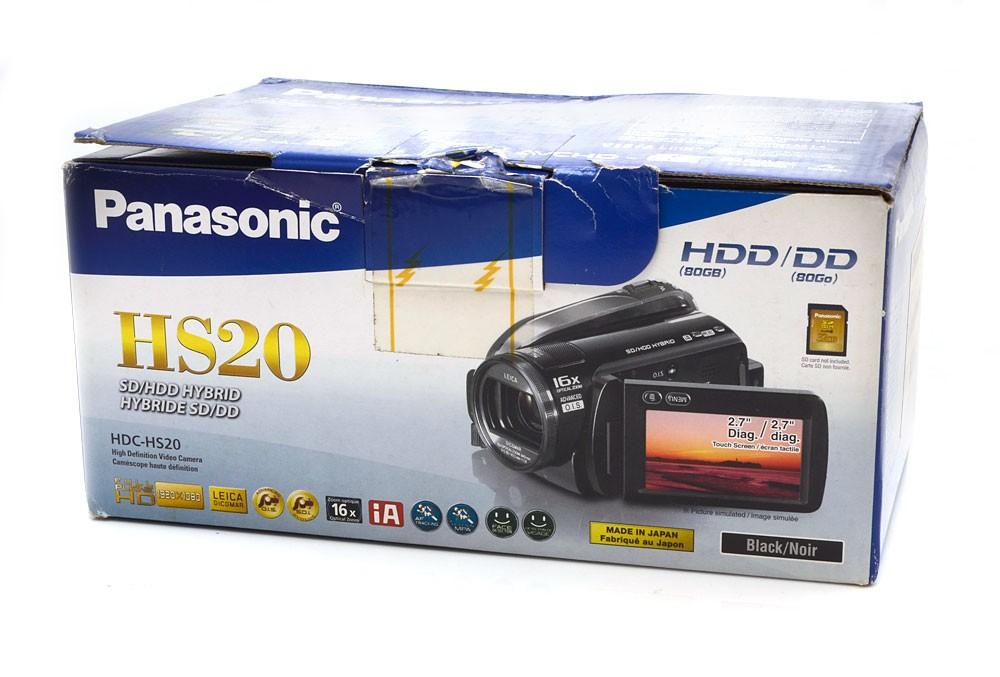 Filmadora Panasonic HDC-HS20 80GB Full HD 1920x1080 - Nova - Na Caixa