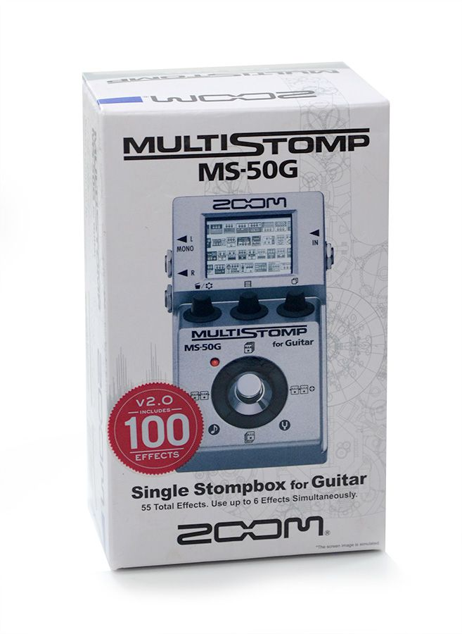 Pedal Multistomp Zoom MS-50G Single Stompbox p/ Guitarra