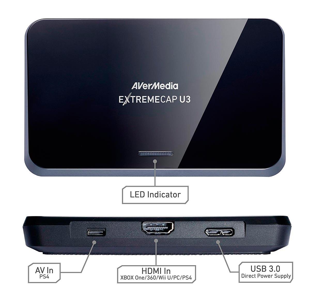 Placa Captura Avermedia Extremecap U3 1080p 60fps USB 3.0 - CV710
