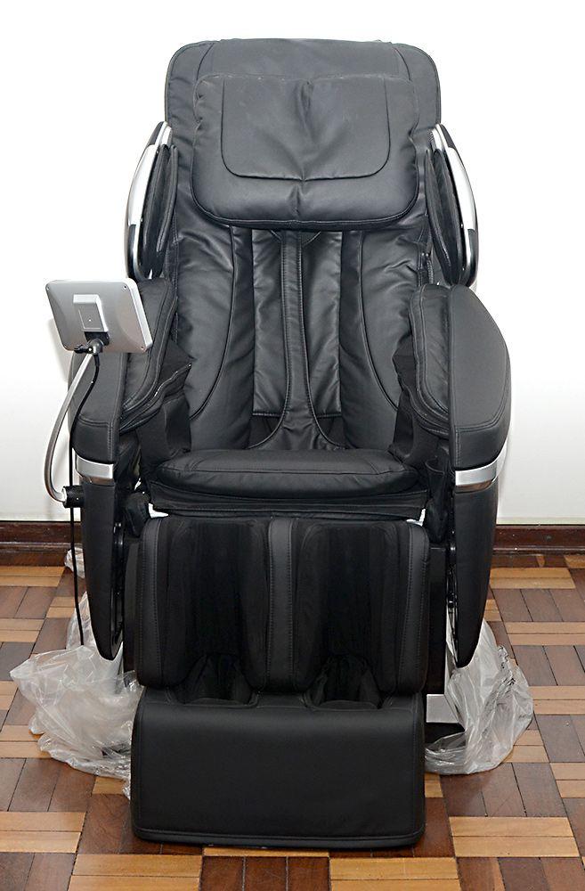 Poltrona De Massagem 3D Zero Gravid Aquecimento Preta A50-7