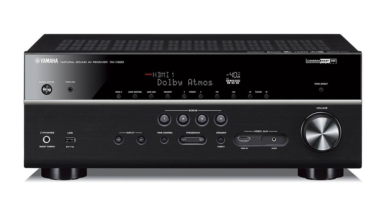 Receiver Yamaha RX-V683 7.2Ch 4k Ultra HD WiFi Bluetooth AirPlay Phono Input