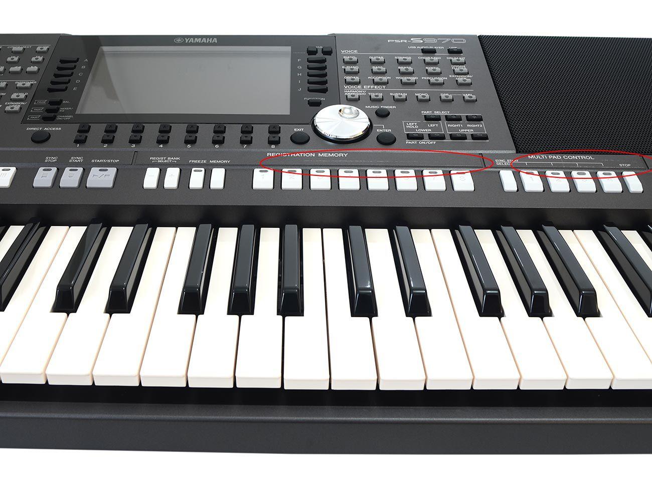 Teclado Arranjador Yamaha PSR-S970 61 Teclas + Fonte Bivolt - OUTBOX