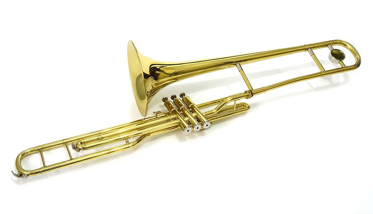 Trombone de Pisto Curto Dó C Laqueado - Kings - Semi-Novo