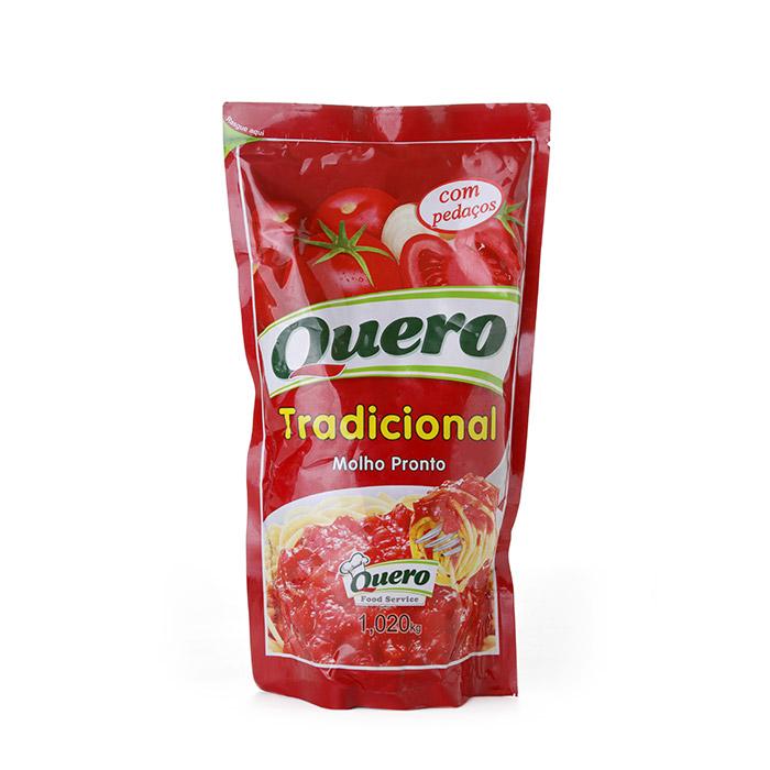 MOLHO DE TOMATE TRADICIONAL PEDAÇOS QUERO 1.02 KG (COD. 784)  - Chef Distribuidora
