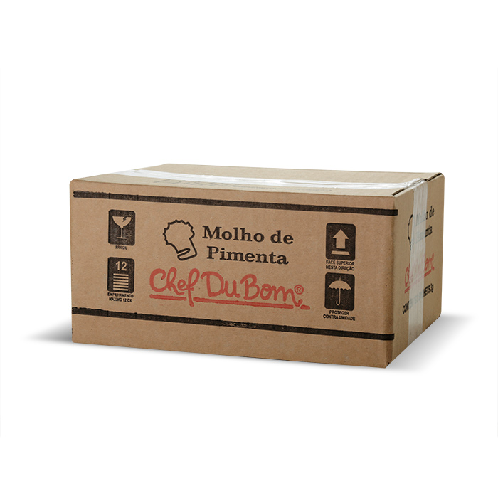 SACHE MOLHO DE PIMENTA  CHEF DU BOM 3G CX 192 UNI.(COD.13823)  - Chef Distribuidora