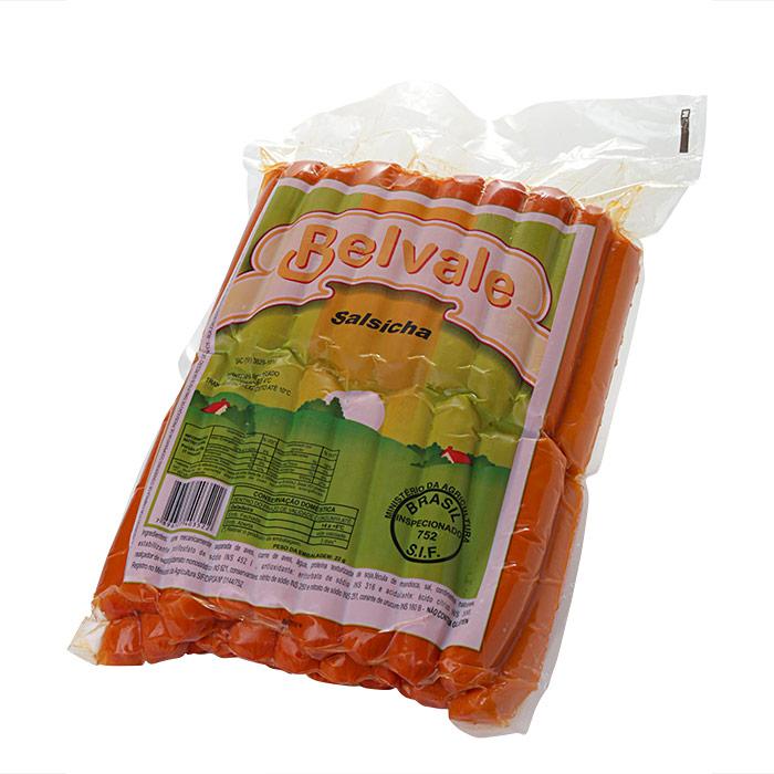 SALSICHA BELVALE 3 Kg Pcte c/ 48 Unid. (COD. 608)  - Chef Distribuidora