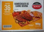 HAMBURGUER BOVINO FAST BURGUER 90G CX C/ 36 UN (COD. 20614)