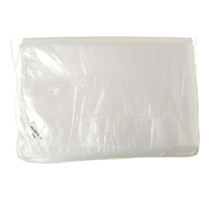 SACO PLASTICO TRANSPARENTE 40 X 60 cm 0,15mm 1 Kg  25 Unidades (COD. 899)  - Chef Distribuidora