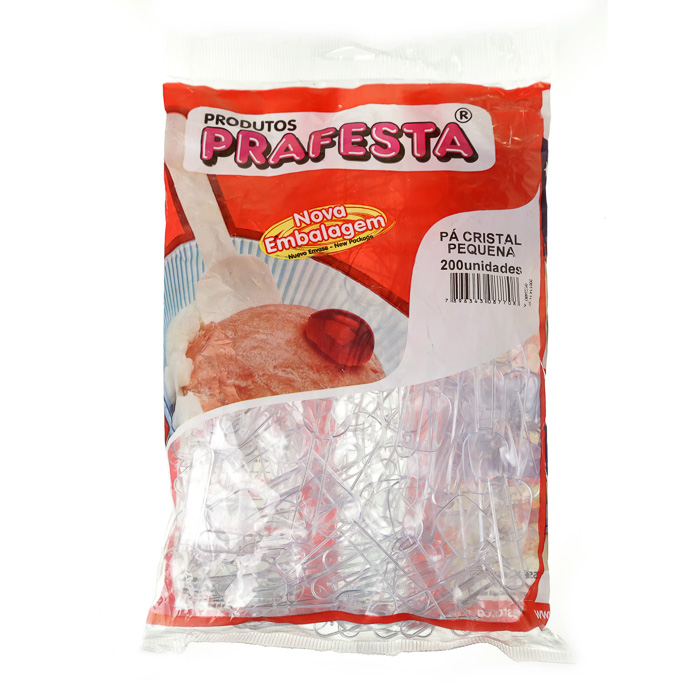 PAZINHA PLASTICA CRISTAL PEQUENA 200 Unidades (COD. 898)  - Chef Distribuidora