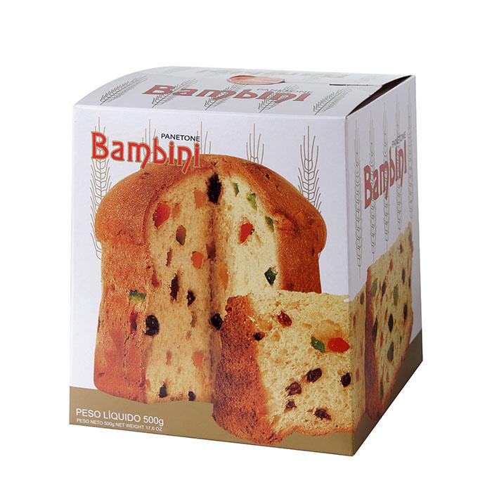 PANETONE BAMBINI EMBALAGEM LUXO 500g 1 Unidade (COD. 329)  - Chef Distribuidora