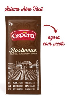 SACHET  BARBECUE CEPERA CX.C/ 175 UNI 7G  (COD 39824 )  - Chef Distribuidora