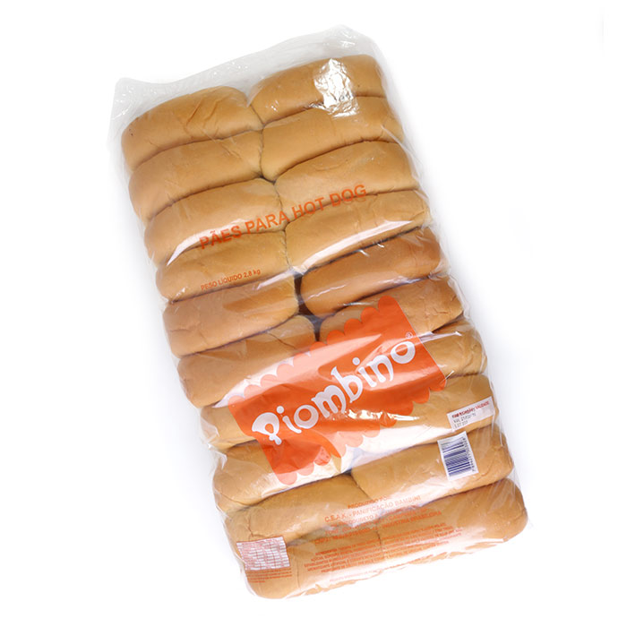 "PÃO BAMBINI HOT DOG 70G SEM CORTE LATERAL PC  C/ 40 ""HOT DOG TRADICIONAL"" (COD. 302)  - Chef Distribuidora"