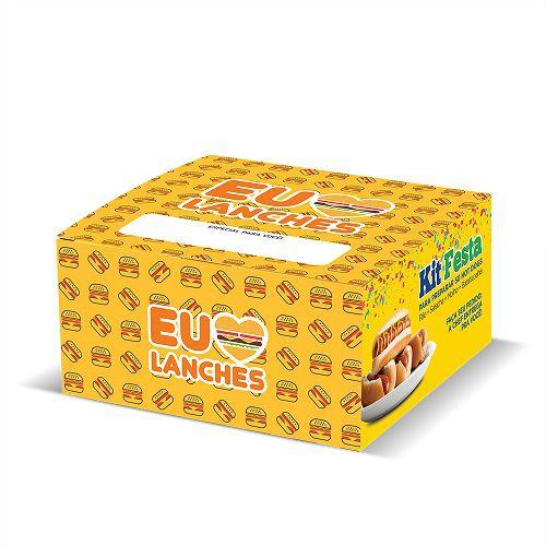 """CAIXINHA PARA HAMBURGUER VIAGEM """"EU AMO"""" 25 Unidades (COD. 13892)  - Chef Distribuidora"""