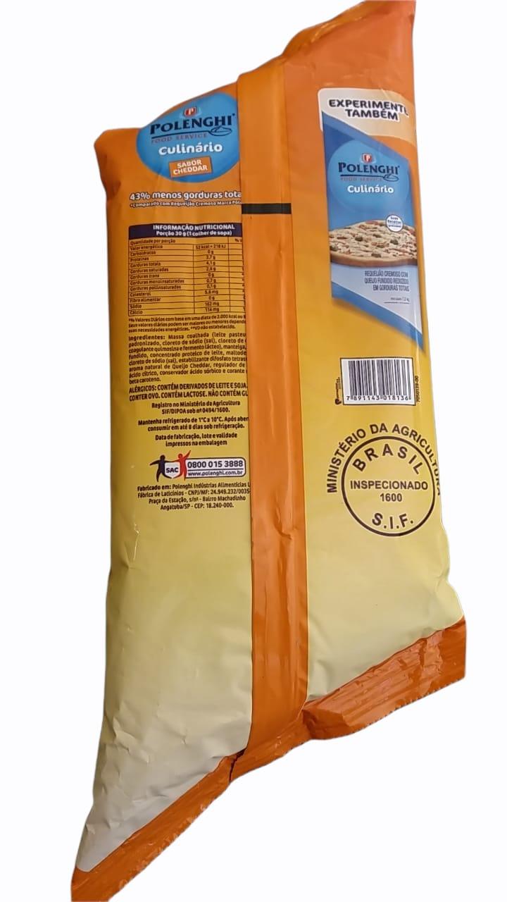 CHEDDAR POLENGHI (BISNAGA) 1.500 Kg 1 Bisnaga (COD. 19631)  - Chef Distribuidora