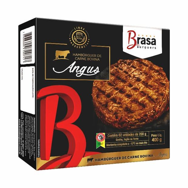 HAMBURGUER BOVINO ANGUS BRASA BURGUERS 200G 3,200 kg CX 16 Unidades (COD. 19688)  - Chef Distribuidora